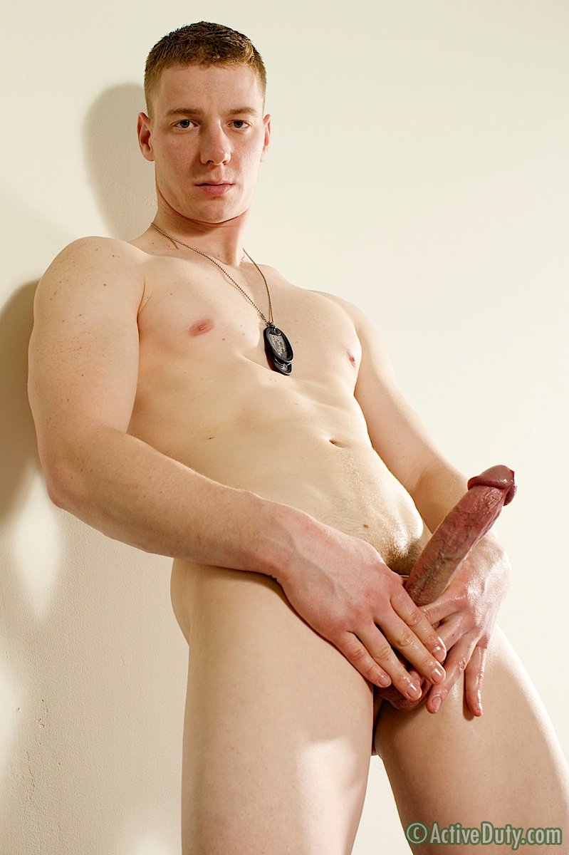 ActiveDuty-Conner-Muscle-Marine-Jerk-Off-Masturbation-Amateur-Gay-Porn-19 Amateur Redheaded Straight Young Muscle Marine Jerks His Big Cock