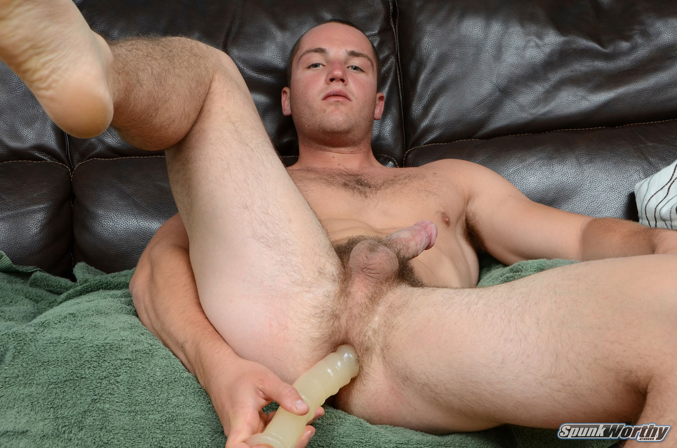 SpunkWorthy Dean Straight Marine Uses A Dildo On Hairy Ass Amateur Gay Porn 05 Ripped Marine Fucks His Striaght Hairy Ass With A Dildo