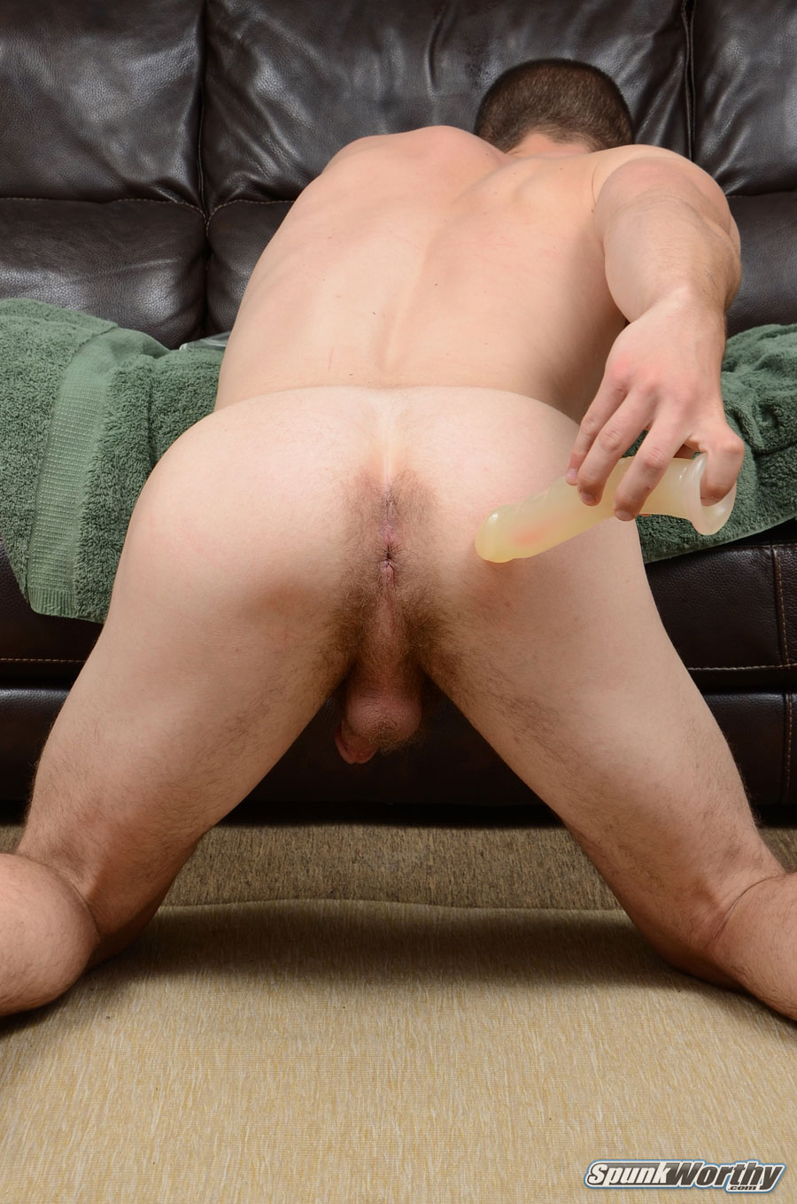 SpunkWorthy-Dean-Straight-Marine-Uses-A-Dildo-On-Hairy-Ass-Amateur-Gay-Porn-09 Ripped Marine Fucks His Striaght Hairy Ass With A Dildo