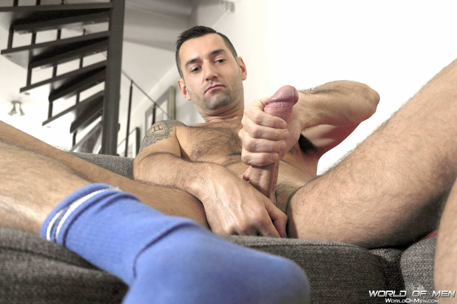 World-Of-Men-Chris-ADam-Big-Uncut-Cock-Jerk-Off-Masturbation-Amateur-Gay-Porn-03 Hairy Sexy Stud Fingers His Ass And Plays With His Huge Uncut Cock