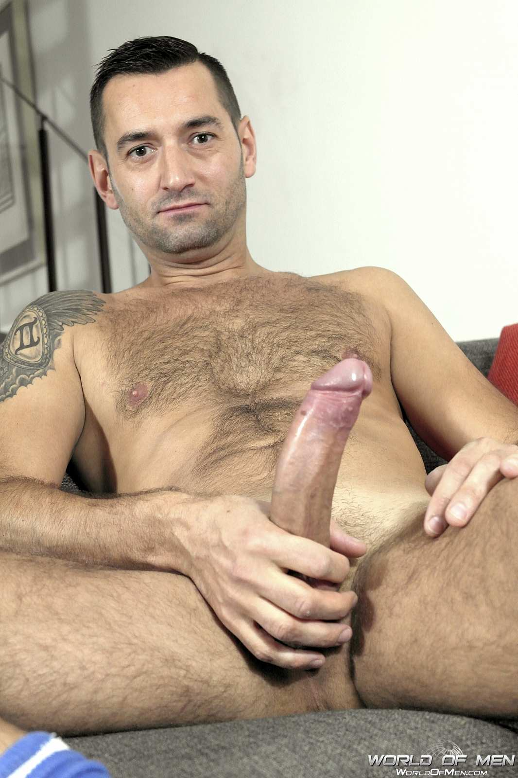 World-Of-Men-Chris-ADam-Big-Uncut-Cock-Jerk-Off-Masturbation-Amateur-Gay-Porn-11 Hairy Sexy Stud Fingers His Ass And Plays With His Huge Uncut Cock