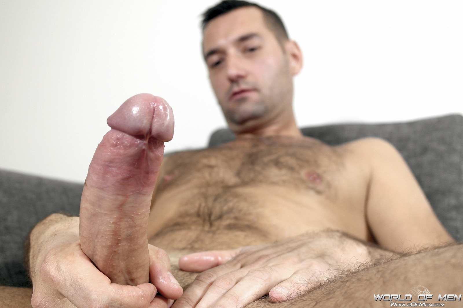 World-Of-Men-Chris-ADam-Big-Uncut-Cock-Jerk-Off-Masturbation-Amateur-Gay-Porn-15 Hairy Sexy Stud Fingers His Ass And Plays With His Huge Uncut Cock