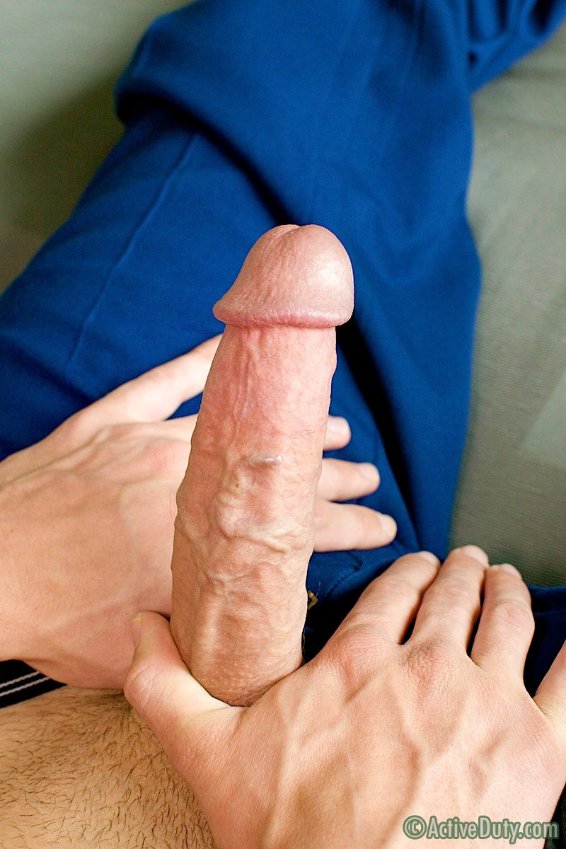 ActiveDuty Jackson Marine With Big Cock Masterbating Amateur Gay Porn 09 Amateur Hung Marine Jackson Jerks His Massive 10 Inch Cock