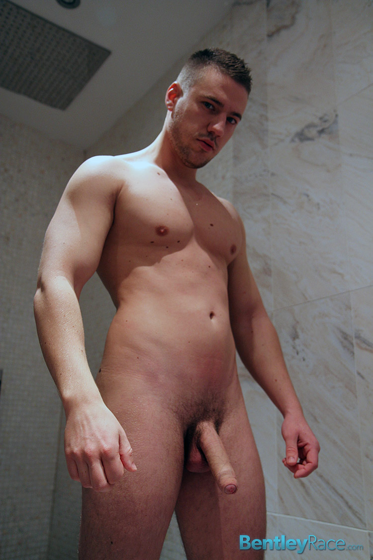 Bentley-Race-Jeffry-Branson-Big-Thick-Uncut-Cock-Masturbating-Shower-Amateur-Gay-Porn-11 Jeffry Branson: Athletic Jock Jerks His Big Thick Uncut Cock In The Shower