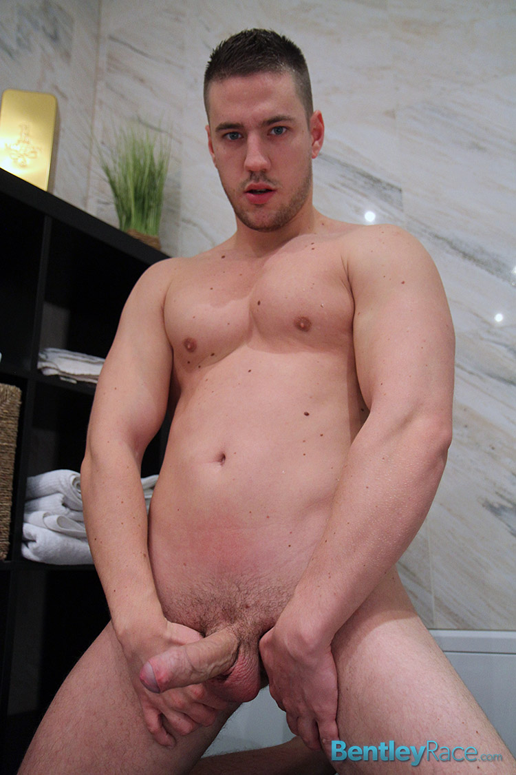 Bentley-Race-Jeffry-Branson-Big-Thick-Uncut-Cock-Masturbating-Shower-Amateur-Gay-Porn-13 Jeffry Branson: Athletic Jock Jerks His Big Thick Uncut Cock In The Shower