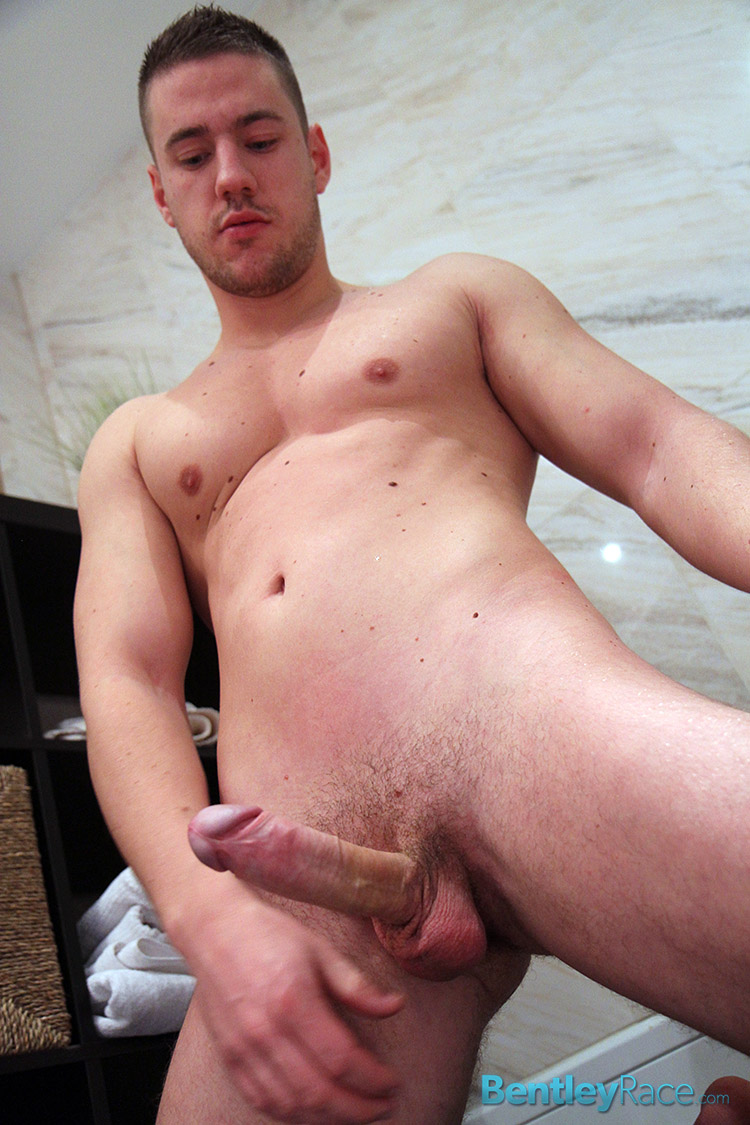Bentley-Race-Jeffry-Branson-Big-Thick-Uncut-Cock-Masturbating-Shower-Amateur-Gay-Porn-15 Jeffry Branson: Athletic Jock Jerks His Big Thick Uncut Cock In The Shower