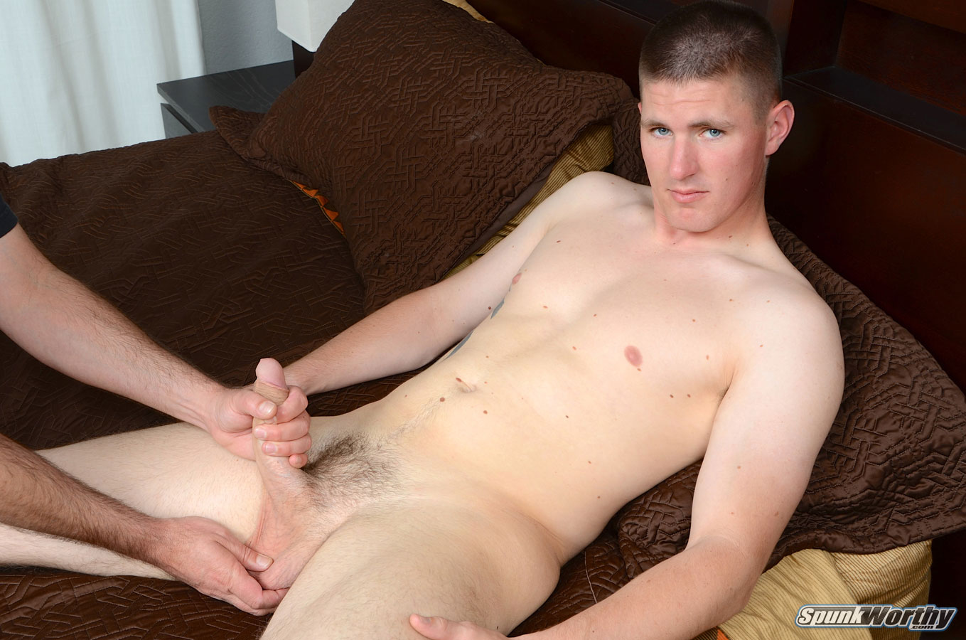 SpunkWorthy Eli Straight Marine Gets A Hand Job Fleshlight from A guy Amateur Gay Porn 06 Straight Marine Gets His First Hand Job From Another Guy