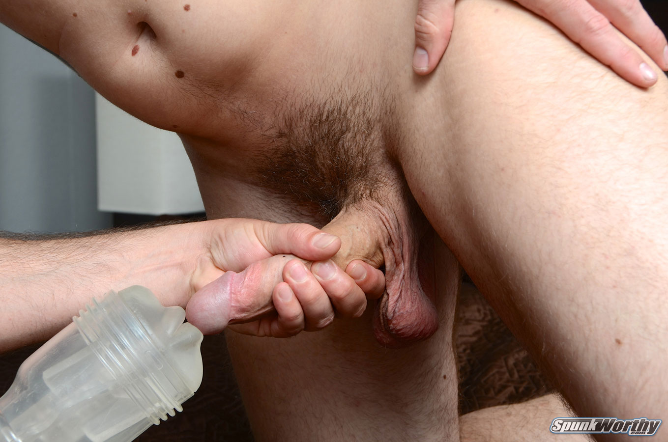 SpunkWorthy-Eli-Straight-Marine-Gets-A-Hand-Job-Fleshlight-from-A-guy-Amateur-Gay-Porn-14 Straight Marine Gets His First Hand Job From Another Guy