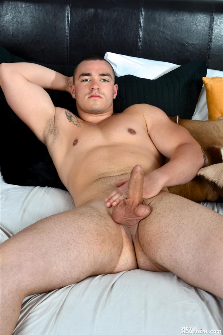 Men-of-Montreal-Scott-Lapoint-Canadian-Muscle-Hunk-With-A-Big-Uncut-Cock-Amateur-Gay-Porn-08 Canadian Muscle Hunk Scott Lapoint Stroking His Big Uncut Cock