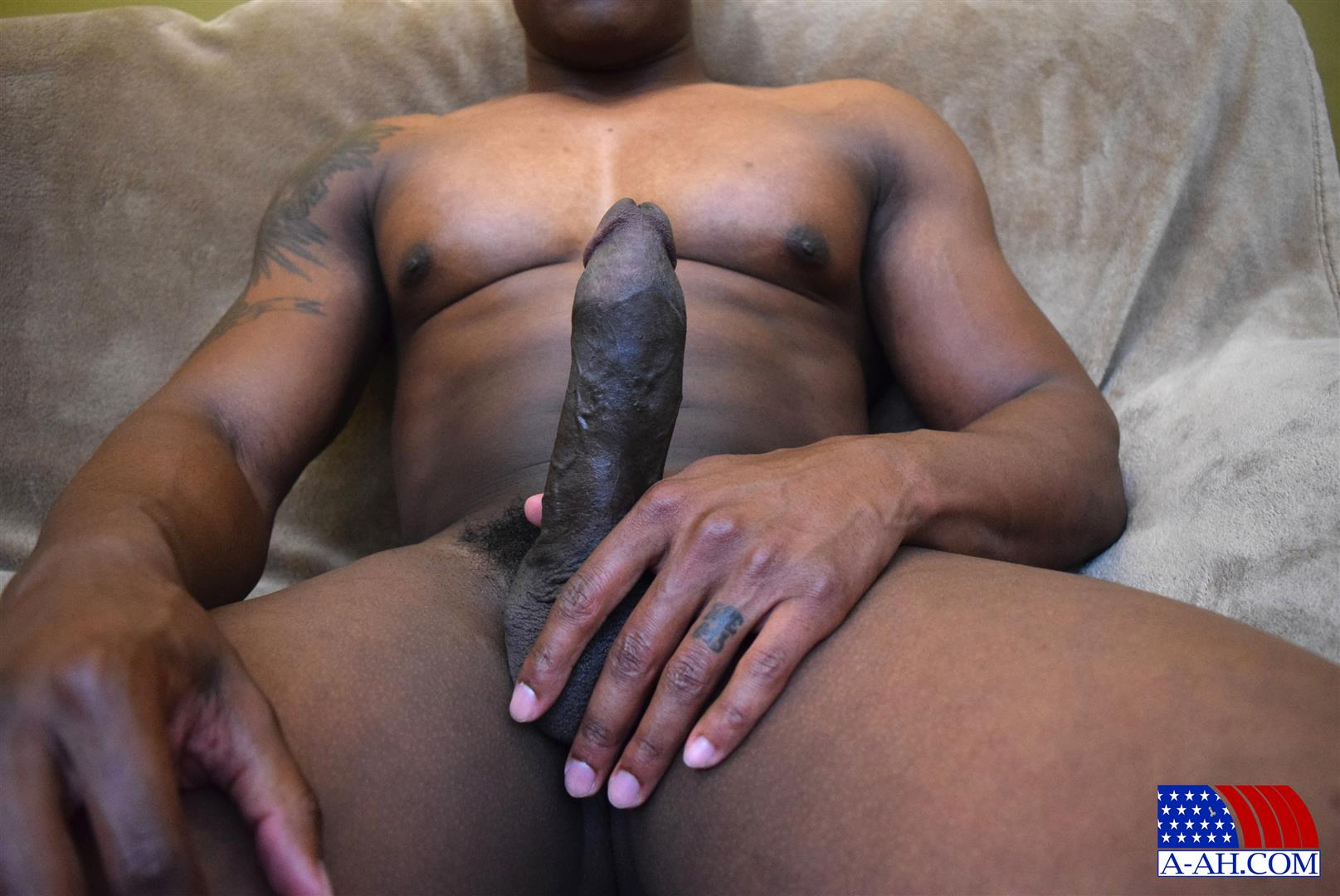 All-American-Heroes-Sean-Muscle-Navy-Petty-Officer-Jerking-Big-Black-Cock-Amateur-Gay-Porn-11 Big Muscular Black Navy Petty Officer Jerking His Big Black Cock