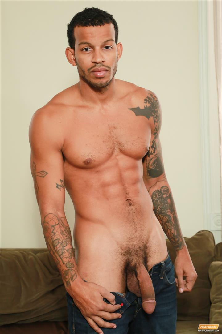 Next-Door-Ebony-Mike-Mann-Naked-Black-Man-Jerking-His-Big-Black-Cock-Amateur-Gay-Porn-07 Sexy Amateur Black Hipster Jerking His Big Black Cock