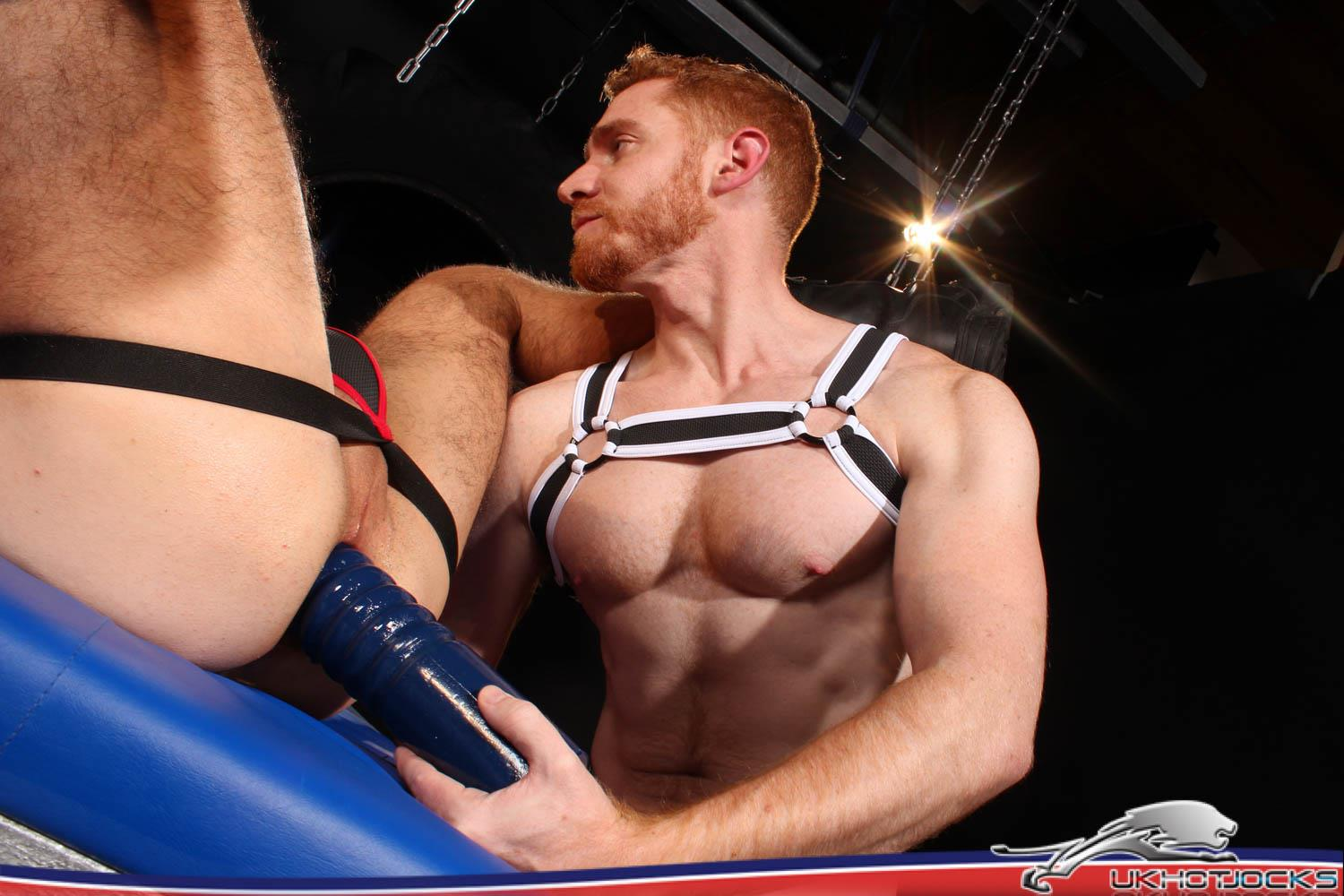 UK Hot Jocks Gaston Croupier and Leander Big Uncut Ginger Cock 27 Gaston Croupier Takes Leanders Big Uncut Cock And A Huge Dildo!